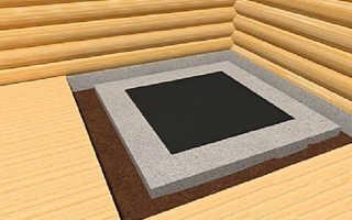 Как сделать фундамент под печь?