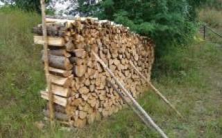 Как сложить поленницу из дров, возможные ошибки