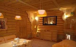 Комната отдыха в бане – дизайн интерьера, отделка и оформление