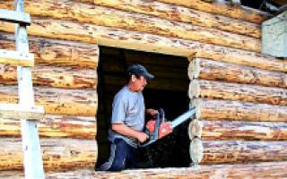 Проектирование дверных и оконных проемов для бревенчатой бани