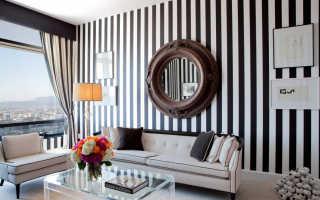 Декоративные полоски на стены: примеры на фото