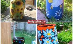 Как раскрасить бочки в саду: идеи на фото