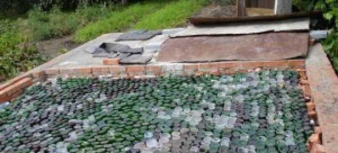 Теплый пол в бане из бутылок: подробная инструкция