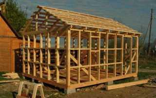 Строительство стен и крыши каркасной бани своими руками