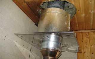 Как сделать дымоход в бане маленьких размеров без порчи крыши