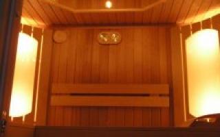 Освещение в бане – классические и необычные дизайнерские идеи