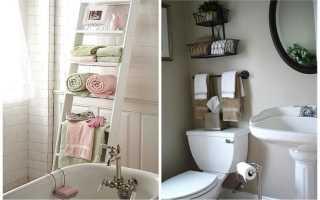 Хранение полотенец в бане