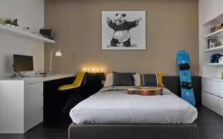 Комната для мальчика с кирпичной стеной: дизайн на фото