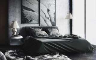 Дизайн комнаты с черной мебелью: подборка фото