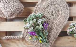 Вязание мочалок для бани крючком – схемы и пошаговая инструкция