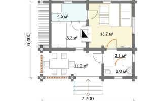 Проекты двухэтажных бань из бруса и бревна: подборка вариантов